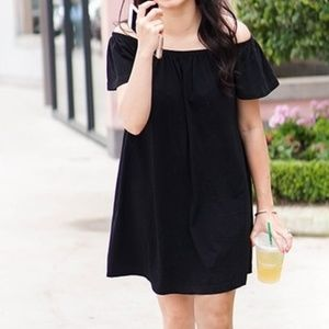 Cooperative black off shoulder mini dress Small
